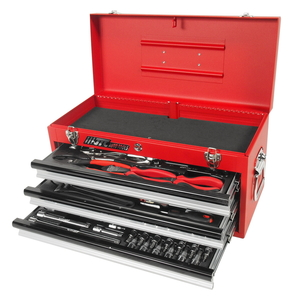 Набор инструментов 65 предметов слесарно-монтажный в переносном инструментальном ящике (3 лотка) JTC-B065